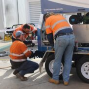 All-Ways Training Services training high pressure water jetting assistants.